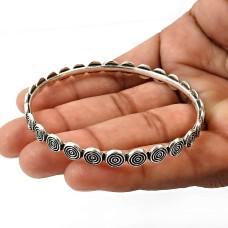 925 Sterling Silver HANDMADE Jewelry Bangle M1