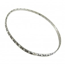 Modern Style!! Handmade 925 Sterling Silver Bangle