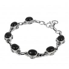 Supplier Black Onyx Gemstone Sterling Silver Bracelet Jewelry