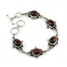 Daily Wear Iron Tiger Eye Gemstone Sterling Silver Bracelet 925 Sterling Silver Jewellery