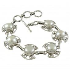 Shine !! Pearl 925 Sterling Silver Bracelet