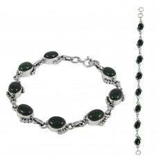 Wholesaler Green Onyx Gemstone Sterling Silver Bracelet Jewelry