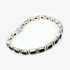925 Silver Jewelry Beautiful Black Onyx Gemstone Bracelet