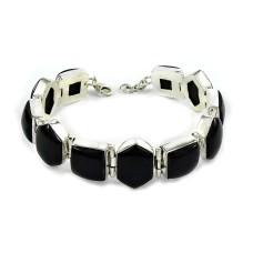 Designer Black Onyx Gemstone Sterling Silver Bracelet 925 Sterling Silver Indian Jewellery