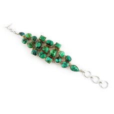 Natural Tibetan Turquoise 925 Sterling Silver Jewelry Bracelet