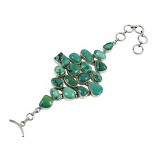 Stunning Turquoise Gemstone Sterling Silver Bracelet 925 Silver Jewellery