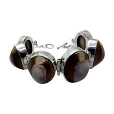 New Exclusive Style !! Shell 925 Sterling Silver Bracelet