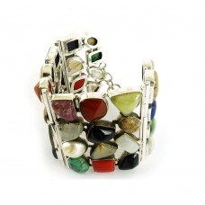 Gorgeous!! 925 Silver Multi Stone Bracelet