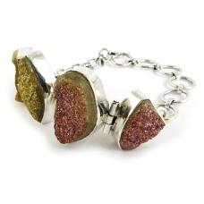 Delicate!! 925 Silver Druzy Bracelet