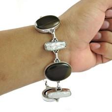 Big Inspire!! 925 Silver Multi Stone Bracelet