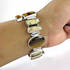 Simple !! Multi Stone 925 Sterling Silver Bracelet Wholesale