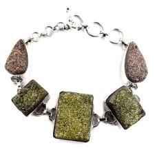 Classy !! Druzy 925 Sterling Silver Bracelet