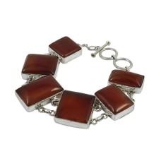 2018 New Design Carnelian Gemstone Sterling Silver Bracelet Jewelry