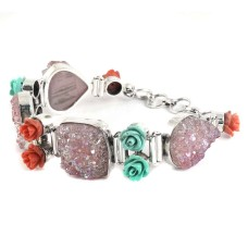 Big Secret Design! 925 Silver Druzy Bracelet