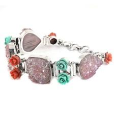 Big Secret Design! 925 Silver Druzy Bracelet