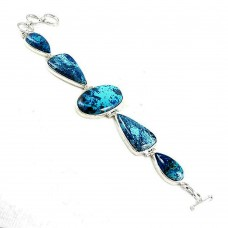 Perfect !! Azurite 925 Sterling Silver Bracelet