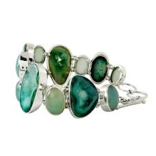 So In Love !! Druzy, Chalcedony 925 Sterling Silver Bracelet