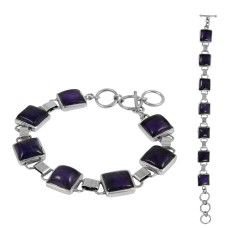 Intrigant Amethyst Gemstone Sterling Silver Bracelet Jewelry