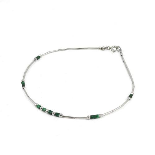 Beloved Malachite Gemstone Sterling Silver Bracelet Jewelry