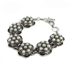 Tropical Glow!! 925 Sterling Silver Pearl Bracelet