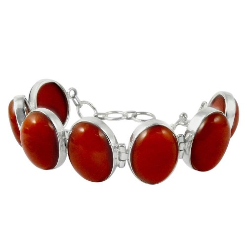 Favorite!! 925 Sterling Silver Carnelian Bracelet
