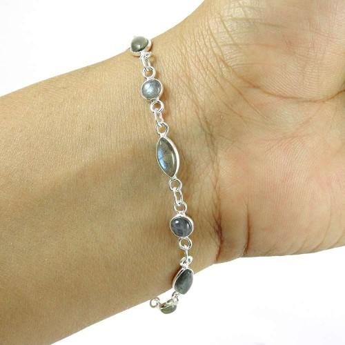 Handy ! Labradorite Gemstone Silver Jewelry Bracelet