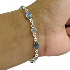 Labradorite Gemstone Bracelet 925 Sterling Silver Traditional Jewelry Wholesale