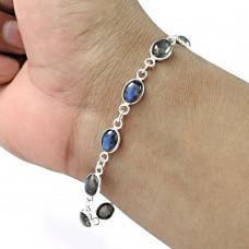 Labradorite Gemstone Bracelet 925 Sterling Silver Wedding Gift Jewelry