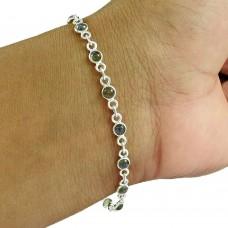 Trendy 925 Sterling Silver Labradorite Gemstone Bracelet Jewelry