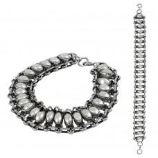 Circle of Hope Pearl Gemstone Sterling Silver Bracelet Jewelry