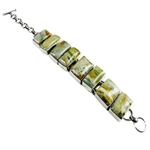 Spell !! Ocean Jasper 925 Sterling Silver Bracelet