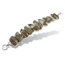 925 Silver Jewelry Charming Ocean Jasper Gemstone Bracelet