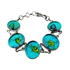 Passion !! Dico Glass 925 Sterling Silver Bracelet