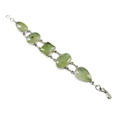 Love At First Sight Light! 925 Silver Prehnite Bracelet