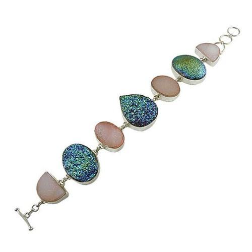 Just Perfect! 925 Silver Druzy Bracelet