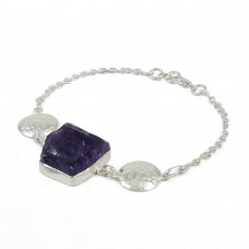 925 sterling silver fashion jewelry Fashion Amethyst Gemstone Bracelet