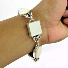 Summer Stock Mother Of Pearl, Citrine Gemstone Sterling Silver Bracelet Jewelry