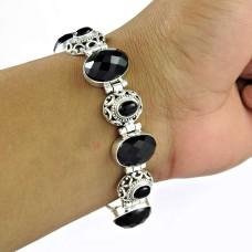 925 sterling silver antique jewelry Rare Black Onyx Gemstone Bracelet