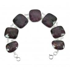 925 Silver Jewellery Traditional Multi Color Sapphire Gemstone Bracelet Manufacturer India