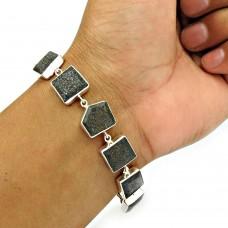 Black Sunstone Bracelet 925 Sterling Silver Stylish Jewelry BR12