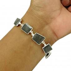 Black Sunstone Bracelet 925 Sterling Silver Stylish Jewelry BR47