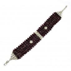 Rare Garnet Gemstone Sterling Silver Bracelet 925 Sterling Silver Fashion Jewellery