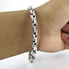 Pleasing 925 Sterling Silver Chain Bracelet Jewelry