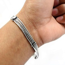 Oxidized Bracelet 925 Solid Sterling Silver HANDMADE Indian Jewelry D4