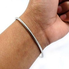 HANDMADE Indian Jewelry 925 Solid Sterling Silver Snake Chain Bracelet A2