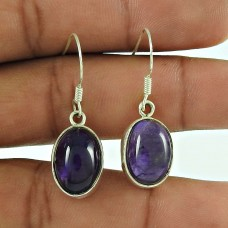 925 Sterling Silver Jewellery Ethnic Amethyst Gemstone Earrings Exporter
