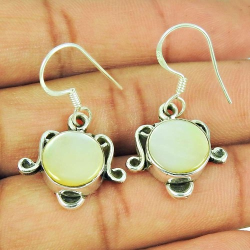 925 Sterling Silver Jewellery Fashion Mother Of Pearl Gemstone Earrings Fabricant