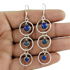 New Design !! 925 Sterling Silver Lapis Earrings Wholesale
