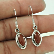 Classy Design !! 925 Sterling Silver Carnelian Earrings Supplier