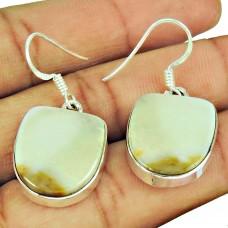 Sterling Silver Indian Jewellery High Polish Ocean Jasper Gemstone Earrings Großhändler